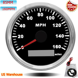 Waterproof 85mm Gps Speedometer 160mph For Car Motorcycle Boat With Red Backlit