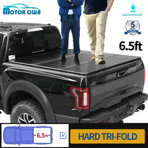 For 2015 2020 Ford F 150 Truck 6 5ft Bed Frp Hard Tri Fold Tonneau Cover