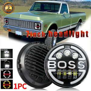 7inch Led Headlight Round Hi lo Sealed Beam For Chevy K10 Pickup Truck El Camino