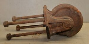 Huge Mining Winch Pulley Cable Rope Logging Collectible Antique Display Tool