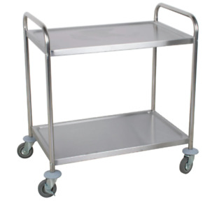 21 x33 x 37 Stainless Steel Commercial Bus Cart Two 2 Shelf Utility Kitchen