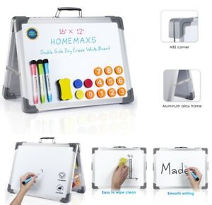 Magnetic Whiteboard Dry Erase Board Aluminum Frame A type Stand White Board Us