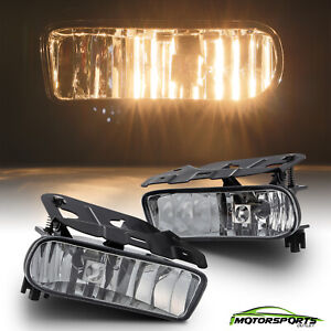 For 2002 2006 Cadillac Escalade Clear Lens Bumper Fog Light Replacement Pair