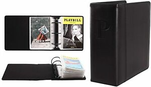 Broadway Play Program And Theater Playbill Binder W 30 Custom Sheet Protectors