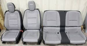 2010 2015 Camaro Ss Gray Cloth Seat Set Front Rear Hot Rod Lsx Swap Used