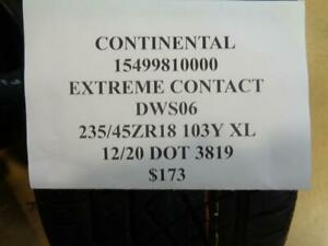 1 New Continental Extreme Contact Dws06 235 45 18 103y Xl Tire 15499810000 Q0