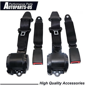 Fit For Jeep Cj Yj Wrangler 1982 95 Universal 3 Point Retractable Seat Belts X2