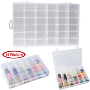 36 Grids Jewelry Organizer Box Clear Plastic Earring Storage Container Case