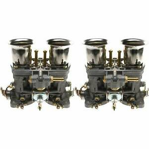 2pcs Carburetor For Weber 40 Idf 2 Barrel Fits Bmw Volkswagen Vw Fiat Porsche
