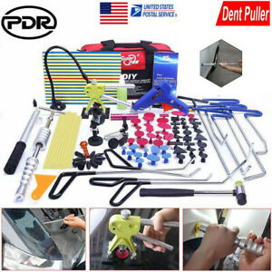 Pdr Tools Car Paintless Push Rods Puller Dent Lifter Hail Repair Removal Kit Us