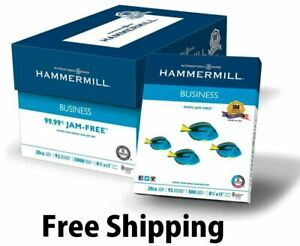 Hammermill Business Copy Paper 20lb 92 Bright 8 1 2 X 11 10 Ream 5000 Sheet