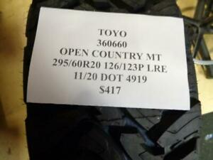1 New Toyo Open Country Mt 295 60 20 126 123p Lre Tire 360660 Q0