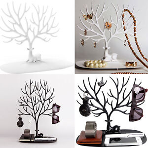 Jewelry Tree Stand Display Organizer Ring Earrings Necklace Holder Show Rack