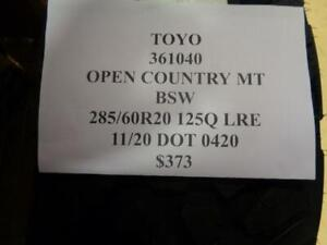 1 New Toyo Open Country Mt Bsw 285 60 20 125q Lre Tire 361040 Q0