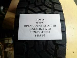 2 New Toyo Open Country A t Iii 35 12 5 22 121q Tires 356000 Q0