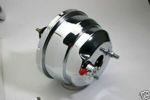 New 8 Dual Diaphragm Chrome Brake Booster Street Rod Hot Rod Ford Chevy