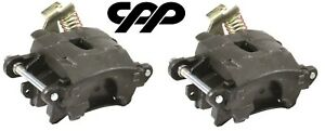 Pair Staggered Rear Disc Brake Conversion Calipers Pads 80 85 Cadillac Seville