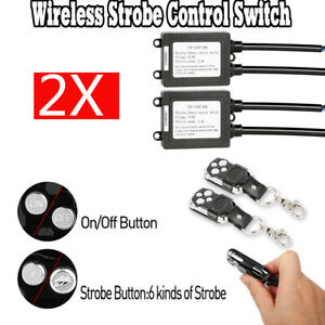 2 X Wireless Remote Control On Off Switch Strobe For Led Work Light Bar Off Road