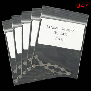 10pcs Dental Orthodontic Bondable Lingual Retainer Upper 47 Mesh Base New Sale