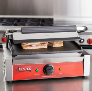 Commercial Panini Sandwich Grill With Smooth Plates 13 x8 3 4 120v 1750w