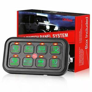 8 Gang Switch Panel On off Led Car Switch Panel Circuit Control Relay System Box
