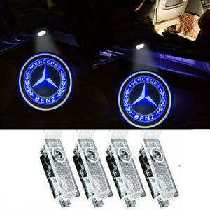 4pcs For Mercedes Benz Ghost Shadow Laser Projector Led Door Courtesy Logo Light