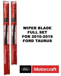 Motorcraft Wiper Blades Genuine Oem Complete Set Of 2 For Ford Taurus 2010 2019