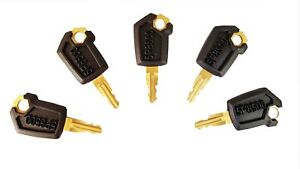 5 Caterpillar Cat Heavy Equipment Ignition Keys 5p8500 New Style Ships Free