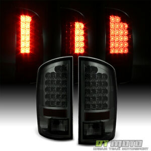 Smoke 2002 2006 Dodge Ram 1500 2500 3500 Lumileds Led Tail Lights Set Left Right