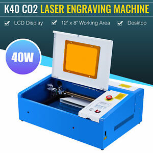 Co2 Laser Engraver Cutter 40w 12 8 Engraving Cutting Machine Upgraded K40