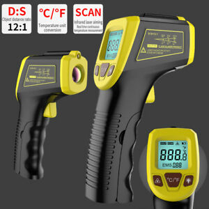 Digital Thermometer Infrared Handheld Non contact Ir Laser Point Temperature Gun