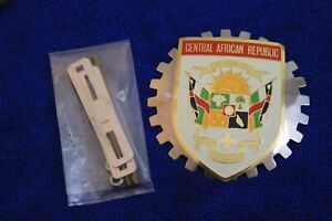 Vintage Central African Republic Grille Badge Bumper License Topper Accessory
