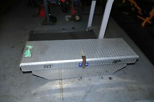 60 Aluminum Diamond Plate Tool Box Truck Underbody Storage Cheap Used