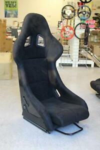 Snc Sp2 Full Bucket Fixed Back Racing Seat Black Suede W Carbon Fiber Shell
