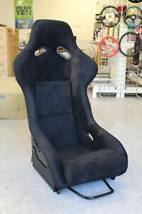 Snc P2 Full Racing Bucket Fixed Back Seat Black Suede W Carbon Fiber Shell