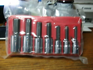 Mac Tools Allen Hex Driver Socket Set 1 2 Drive 5 16 3 4