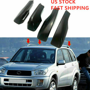 Us Stock Roof Rack Cover Rail End Shell Replacement Fit For Toyota Rav4 2001 05