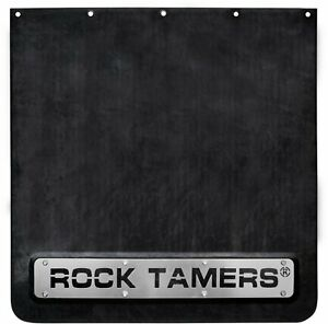 Rock Tamers Mud Flap System 2 Hitch mount For Rv Boat Trailer Black stainless