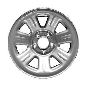 03404 Reconditioned Factory Oem Steel Wheel 15x7 Medium Silver Sparkle