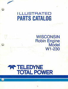 Wisconsin robin W1 230 Engine Parts Manual New