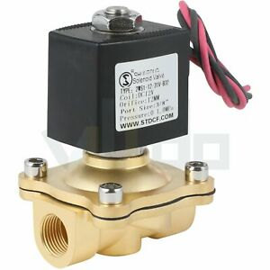 3 8 Brass Electric Solenoid Valve Dc 12v For Water Air Gas Fuel Viton