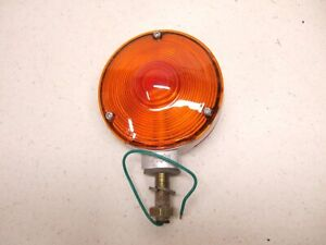 Nos Vintage Grote 56010 Double Sided Faced Light Amber Red Lamp 9158