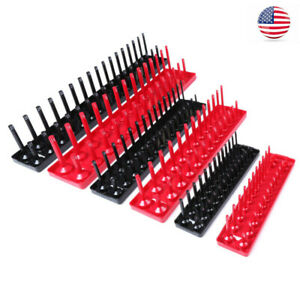 6pcs Socket Organizer Tray Rack Storage Tool 1 4 3 8 1 2 Us
