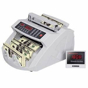 Money Bill Counter Counting Machine Counterfeit Detector For Bank Saving Time