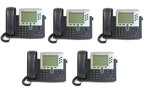 Lot Of 5 Refurbished Cisco 7960g Unified Ip Phone