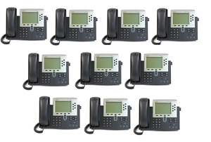 Lot Of 10 Refurbished Cisco 7960g Unified Ip Phone