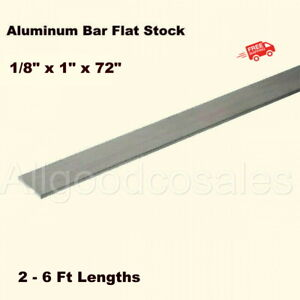 Aluminum Bar Flat Stock 1 8 X 1 X 6 Ft Unpolished 6061 Alloy 72 Length