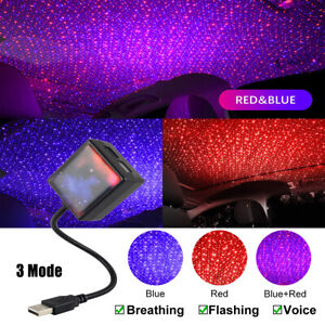 Usb Atmosphere Starry Sky Car Interior Roof Led Star Night Light Projector Lamp