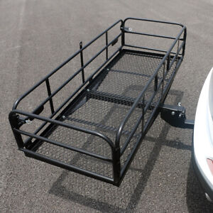 Foldable Hitch Cargo Carrier 150 X 60 X 8 5cm Basket Trailer 500 Lbs Capacity
