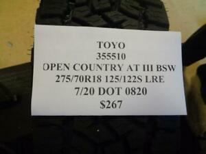 2 New Toyo Open Country At Iii Bsw 275 70 18 125 122s Lre Tires 355510 Q0